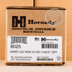 Image of the 223 REMINGTON HORNADY SUPERFORMANCE VARMINT 53 GRAIN PT (20 ROUNDS) available at AmmoMan.com.