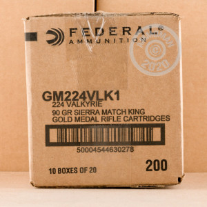 Image of 224 VALKYRIE FEDERAL GOLD MEDAL 90 GRAIN BTHP (200 ROUNDS)