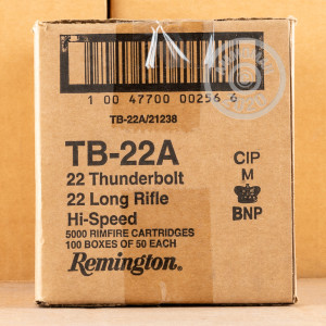 rounds of .22 Long Rifle ammo with Lead Round Nose (LRN) bullets made by Remington.