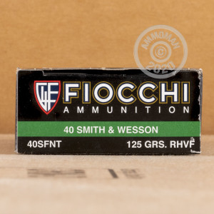 Image detailing the brass case and boxer primers on the Fiocchi ammunition.