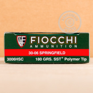 Photo of 30.06 Springfield SST ammo by Fiocchi for sale.