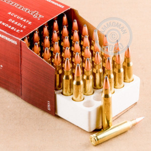 Photo detailing the 223 REMINGTON HORNADY 55 GRAIN SP (500 ROUNDS) for sale at AmmoMan.com.
