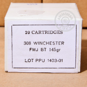 A photo of a box of Prvi Partizan ammo in 308 / 7.62x51.