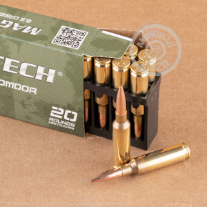 Photo detailing the 6.5 CREEDMOOR MAGTECH 140 GRAIN FMJBT (20 ROUNDS) for sale at AmmoMan.com.