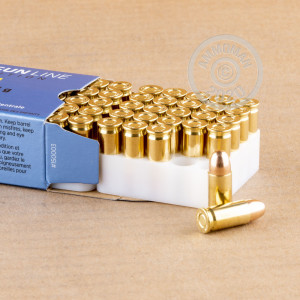 A photograph detailing the .32 ACP ammo with FMJ bullets made by Prvi Partizan.