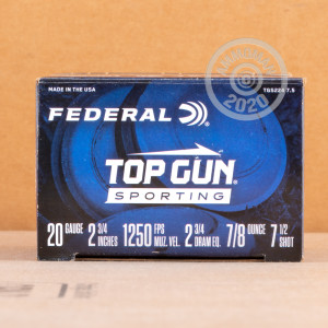 Photograph of Federal 20 Gauge #7.5 shot for sale at AmmoMan.com