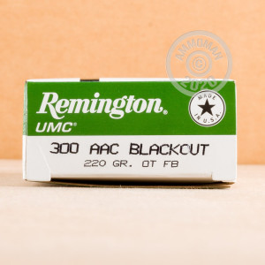 Photo detailing the 300 AAC BLACKOUT REMINGTON UMC 220 GRAIN OTFB (200 ROUNDS) for sale at AmmoMan.com.