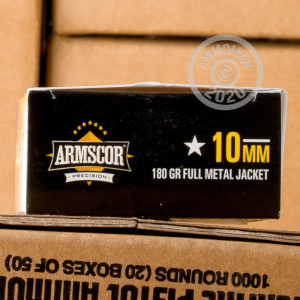 Image of 10mm ammo by Armscor that's ideal for training at the range.