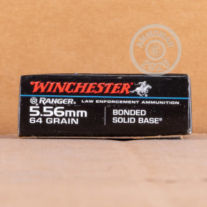 Image of the 5.56X45 WINCHESTER RANGER 64 GRAIN BONDED SOLID BASE (20 ROUNDS) available at AmmoMan.com.