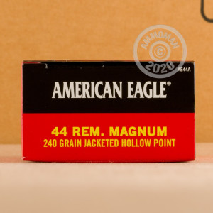 Photograph showing detail of 44 MAGNUM FEDERAL AMERICAN EAGLE 240 GRAIN JHP (50 ROUNDS)
