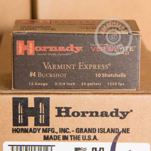 Photograph of Hornady 12 Gauge #4 BUCK for sale at AmmoMan.com