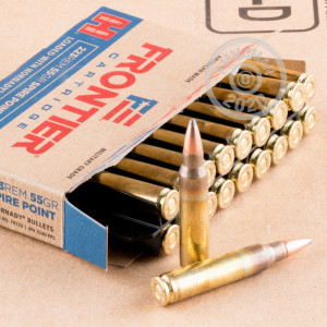Photo detailing the 223 REM HORNADY FRONTIER 55 GRAIN SP (20 ROUNDS) for sale at AmmoMan.com.
