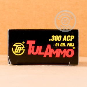 Image of Tula Cartridge Works .380 Auto pistol ammunition.