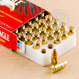 Image of Federal 357 SIG pistol ammunition.