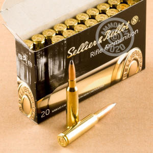 Photo of 6.5 x 55 Swedish soft point ammo by Sellier & Bellot for sale.
