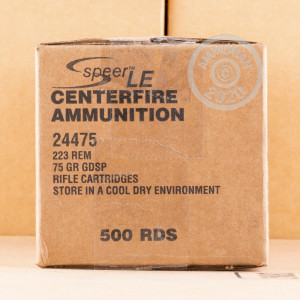 Photo of 223 Remington soft point ammo by Speer for sale.
