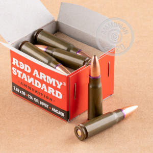 Photo of 7.62 x 39 Hollow-Point Boat Tail (HP-BT) ammo by Red Army Standard for sale.