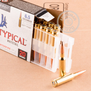 Photo detailing the 6.5 CREEDMOOR FEDERAL NON-TYPICAL WHITETAIL 140 GRAIN SP (20 ROUNDS) for sale at AmmoMan.com.