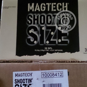 An image of bulk 38 Special ammo made by Magtech at AmmoMan.com.