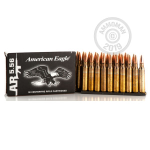 Photo detailing the 5.56x45 FEDERAL XM193 55 GRAIN FMJ-BT STRIPPERS (900 ROUNDS) for sale at AmmoMan.com.