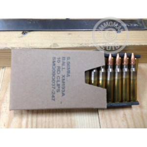 Image of the 5.56 NATO FEDERAL 55 GRAIN FULL METAL JACKET (900 ROUNDS) available at AmmoMan.com.