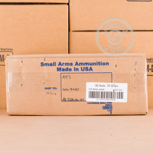 Photo of .32 ACP FMJ ammo by Armscor for sale at AmmoMan.com.