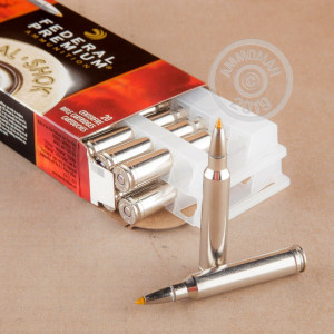 Image of 300 Winchester Magnum ammo by Federal that's ideal for big game hunting, hunting wild pigs, very large animal hunting, whitetail hunting.