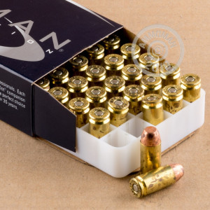 A photograph of 50 rounds of 165 grain .40 Smith & Wesson ammo with a TMJ bullet for sale.