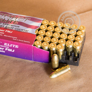 Image detailing the brass case and boxer primers on the Hotshot Ammunition ammunition.