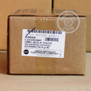 Image of the 223 REMINGTON UMC BULK PACK 55 GRAIN FMJ (1000 ROUNDS) available at AmmoMan.com.