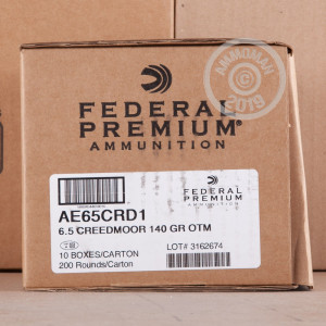Image of 6.5 Creedmoor - 140 Grain OTM - Federal American Eagle - 20 Rounds