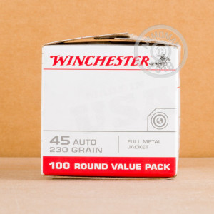 An image of .45 Automatic ammo made by Winchester at AmmoMan.com.