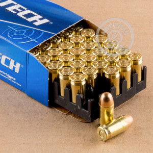 Image of .380 Auto ammo by Magtech that's ideal for training at the range.