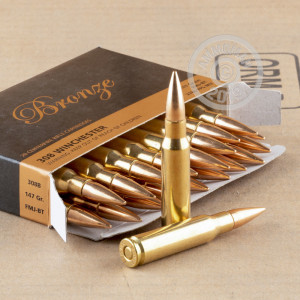 Image of PMC 308 / 7.62x51 rifle ammunition.