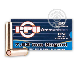 Image of 7.62mm NAGANT ammo by Prvi Partizan that's ideal for training at the range.