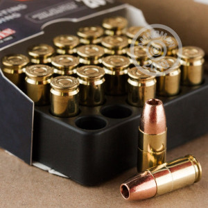 Image of 9mm Luger ammo by Corbon that's ideal for home protection.