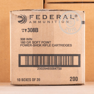 Photo of 308 / 7.62x51 soft point ammo by Federal for sale.
