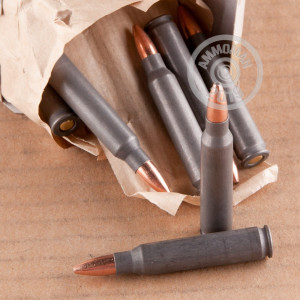 Photo detailing the 223 REMINGTON WOLF MILITARY CLASSIC 62 GRAIN HP (20 ROUNDS) for sale at AmmoMan.com.
