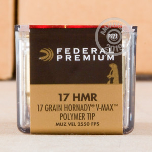 rounds of 17 HMR ammo with V-MAX bullets made by Federal.