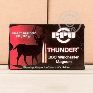 An image of 300 Winchester Magnum ammo made by Prvi Partizan at AmmoMan.com.