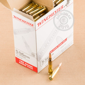 Photo detailing the 5.56x45mm - 62 gr Open Tip - Winchester USA - 900 Rounds for sale at AmmoMan.com.