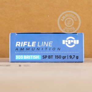 Photo of 303 British Soft-Point Boat Tail (SP-BT) ammo by Prvi Partizan for sale.