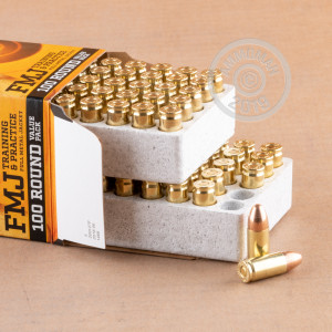 A photo of a box of Browning ammo in 9mm Luger.
