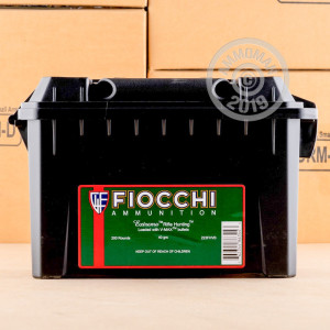Image of 223 Remington ammo by Fiocchi that's ideal for hunting varmint sized game.