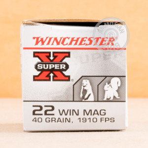rounds of .22 WMR ammo with JHP bullets made by Winchester.