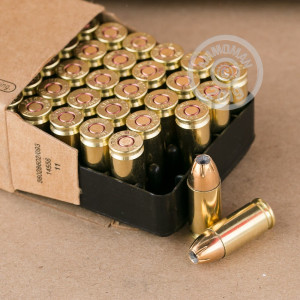 A photo of a box of Israeli Military Industries ammo in 9mm Luger.