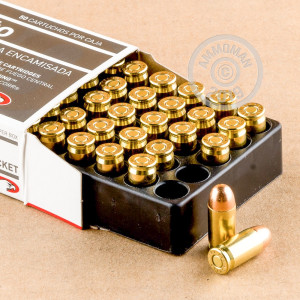 Photo of .380 Auto FMJ ammo by Aguila for sale at AmmoMan.com.