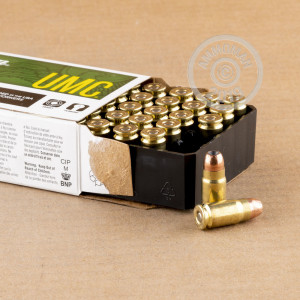 Image of Remington 357 SIG pistol ammunition.