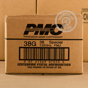 Image of 38 Special ammo by PMC that's ideal for training at the range.