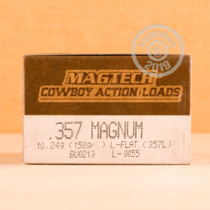 A photograph of 1000 rounds of 158 grain 357 Magnum ammo with a Lead Flat Nose bullet for sale.